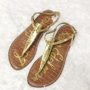 Sam Edelman Gigi Gold snakeskin sandals 7.5